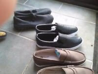 5 pairs mens casual slip on shoes size 12,unused.