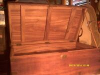 A SUPERB CAMPHOR WOOD CHEST / TRUNK , in EXCELLENT CONDITION , 36 by 20 by 14 inches