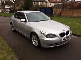 BMW 5 Series 2.0 520d SE 4dr, AUTOMATIC, 6 MONTHS FREE WARRANTY, FULL SERVICE HISTORY, AUX, USB