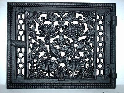 old ventilation grille / cast iron fire door / bread oven door / stove smoke