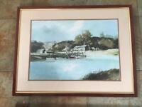 LARGE PICTURE RIVER ARUN BY ROWLAND HILDER