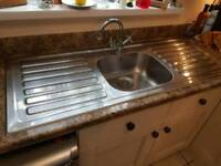 Large sink - with taps and waste