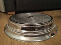 Silver cake stand - 14 inches. Immaculate condition. Perfect for wedding cake