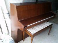UPRIGHT PIANO & DOUBLE STOOL