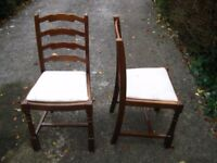 Dining chairs (three for £15)