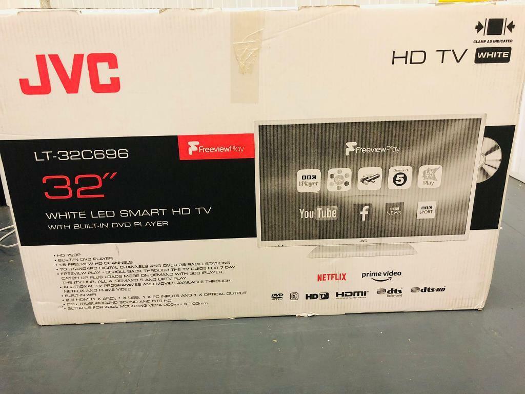 Smart tv 32 inch JVC,white colour, New model | in Middleton, Manchester |  Gumtree
