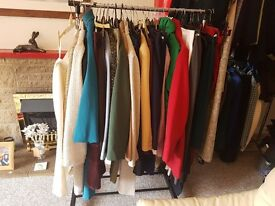 At least 170 items of ladies clothes mostly in sizes 18 and 20. Good makes, good condition.