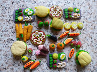 Miniature food for childern's kitchen crockery