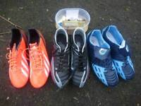 Football, rugby boots size 9