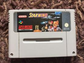 Nintendo SNES starwing game. Classic