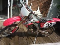 Honda Crf 250X road legal 2005