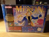 Young Merlin Super Nintendo SNES Boxed!