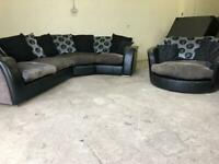 Grey dfs corner sofa & cuddle sofa, couch, suite, furniture 🚛🚚