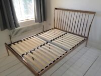 Copper Double Bed Frame (with slats)