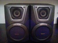 "Panasonic ""Super woofer"" speakers"