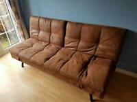 Dreams leather effect sofa bed