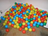 Ballpond Balls -215 in total lots of different colours