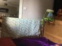 Baby bed+matrace +musical mobile baby toy