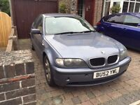BMW 320d 2002(52) rear right wheel bearing gone otherwise running fine, selling as spares repairs