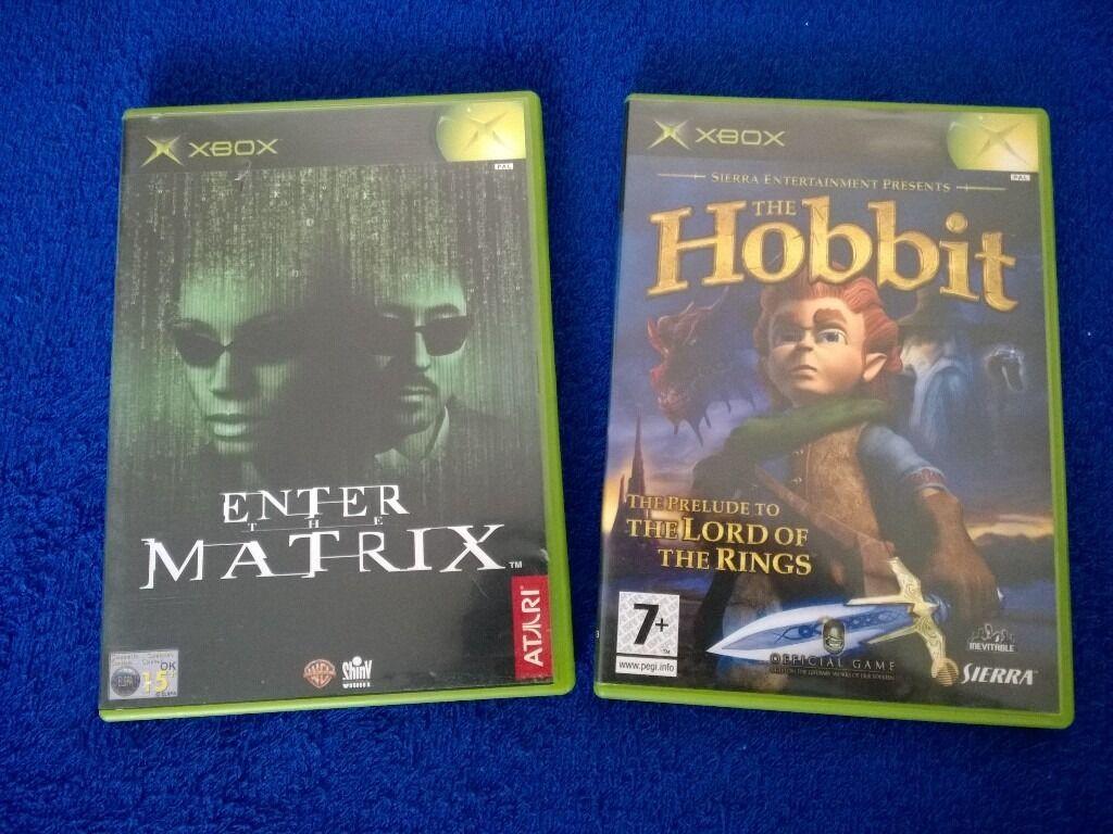 ENTER THE MATRIX & THE HOBBIT (for ORIGINAL XBOX)