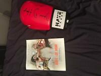 David Haye signed boxing glove