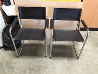 2 Leather Visitors Office Chairs