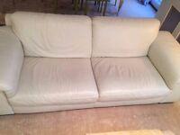 5 year old White Natuzzi Leather Sofa
