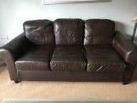 3seater ikea leather sofa £50