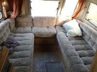 camper campervan cushions u lounge also fridge cooker sink
