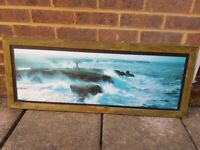 Framed sea picture