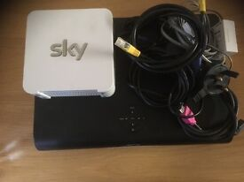 Sky + HD satalite box and WIFI router