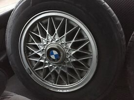 """14"""" BBS alloys removed from my e30"""