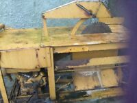 Engine driven circular saw