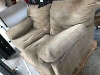John Lewis Brown 2 seater sofa - Free - Delivery available within Chester for Nominal Fee if needed