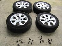 peugeot or citroen 15 inch alloy wheels and propper bolts 195/55/15 tyre