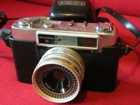 Yashica Minister III: 1963 35mm camera with integral hard case & strap