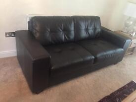 2, 3- seater Leather sofas