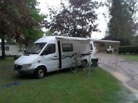 4/5 berth sprinter camper/motor-home /with garage