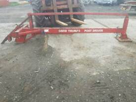 Tractor three point linkage David Thomas post stob chapper knocker