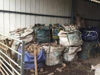 Woodburner logs in jumbo bags for sale