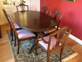 Mahogany Dining Room Suite and Sideboard