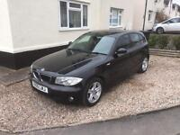 BMW 1 series e87 5 door black with private plate