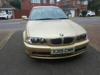 BMW 3SERIES ,76K ,LEATHER SEAT,FULL SERVICE ,CHEAP ON TAX ,BIG BOOT £1295 ONO