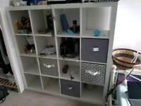 Large white 16 cube storage unit