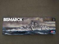"Tamiya German Battleship ""Bismark"" plastic model kit"