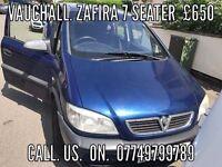 7 SEATER ZAFIRA FULL MOT 2004 £895
