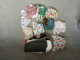 Bundle of cloth nappies including inserts