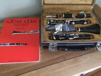 Refurbished Amati ACL 201 Bflat (Bb) Clarinet. Excellent Condition + Instrument Stand & Tuition Book