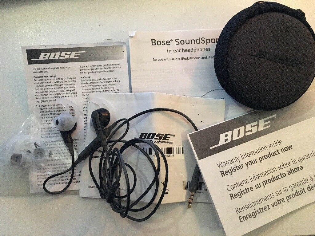 Bose SoundSport In-Ear Headphones - charcoal / black