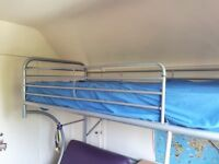 Cabin style metal single bunk bed